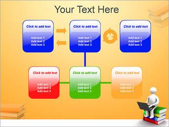 Homem com portátil em livros Modelos de apresentações PowerPoint - Slide 23