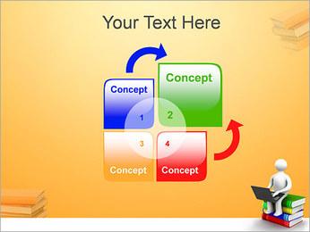 Homem com portátil em livros Modelos de apresentações PowerPoint - Slide 5