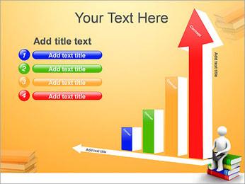 Homem com portátil em livros Modelos de apresentações PowerPoint - Slide 6