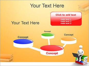 Homem com portátil em livros Modelos de apresentações PowerPoint - Slide 9