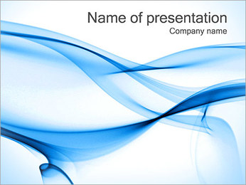 Abstract Blue Lines PowerPoint Template