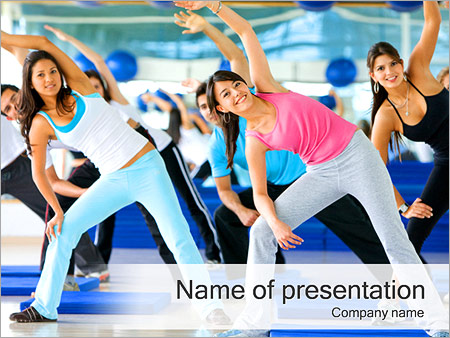 Aerobics powerpoint template backgrounds id 0000002355 aerobics powerpoint template toneelgroepblik Gallery