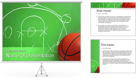 Basketball Game Tactic PowerPoint Template Backgrounds ID – Basketball Powerpoint Template