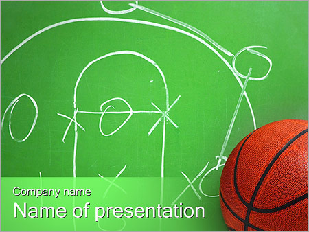 Basketball Game Tactic PowerPoint Templates