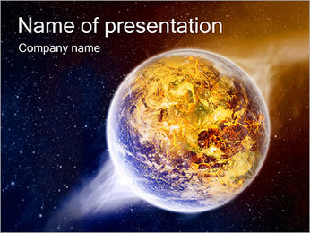 Planet Explosion PowerPoint Template