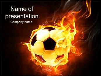 Fire Ball PowerPoint Template