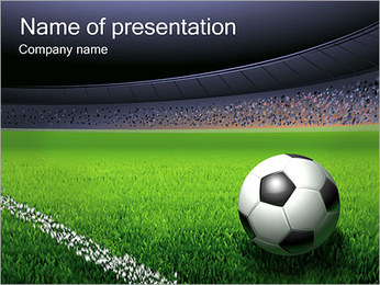 Soccer Ball and Stadium PowerPoint Template