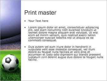 Piłka nożna i stadionu Szablony prezentacji PowerPoint