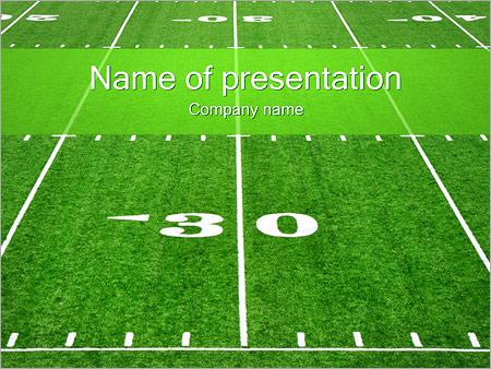 american football field powerpoint template backgrounds google