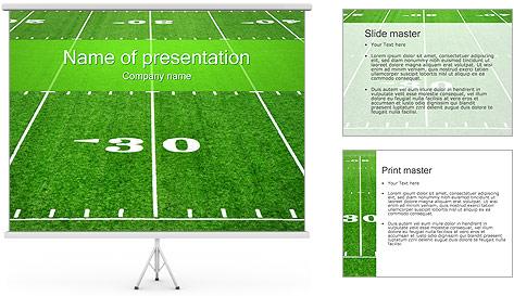 American Football Field PowerPoint Template Backgrounds ID – Football Powerpoint Template