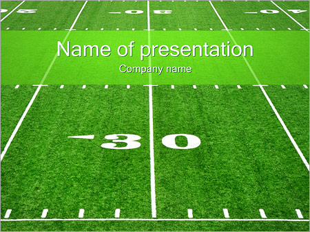 American Football Field Powerpoint Template & Backgrounds Id