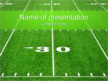 Americký fotbal pole PowerPoint šablony