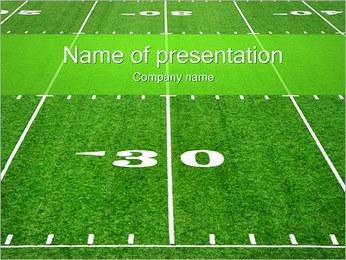 American Football Field PowerPoint presentationsmallar