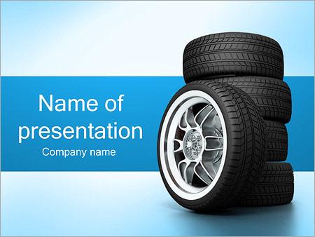 Roues de voiture Modèles des présentations  PowerPoint
