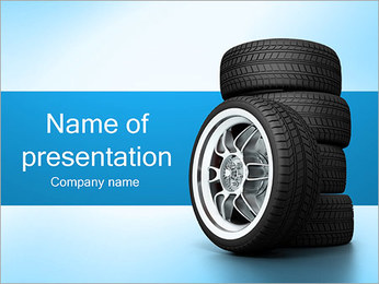 Car Wheels PowerPoint Template