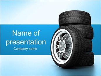 Roues de voiture Modèles des présentations  PowerPoint - Diapositives 1