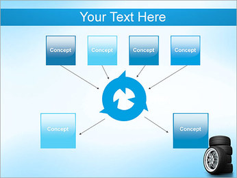 Roues de voiture Modèles des présentations  PowerPoint - Diapositives 10
