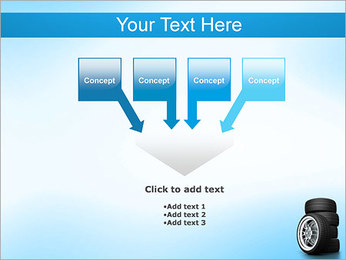 Roues de voiture Modèles des présentations  PowerPoint - Diapositives 8
