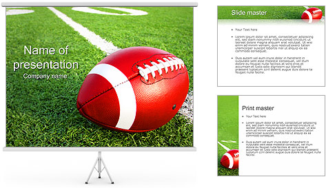 American Football PowerPoint Template Backgrounds ID 0000002369 – Football Powerpoint Template