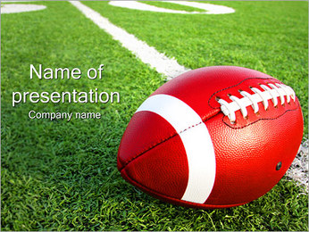 Amerikansk fotboll PowerPoint presentationsmallar