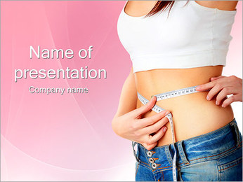 Weight Loss Woman PowerPoint Template