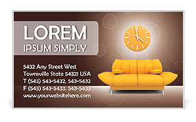 Sofa and Clock Business Card Templates