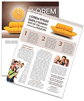 Sofa et horloge Newsletter