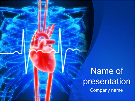 human heart and xray powerpoint template amp backgrounds id