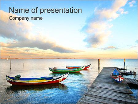 ボート PowerPointプレゼンテーションのテンプレート