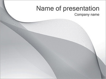 Silver Waves PowerPoint Template