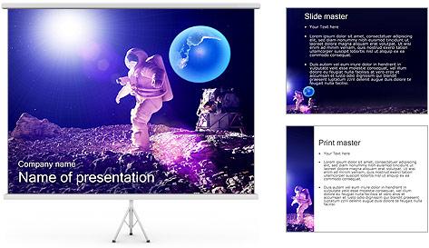 Man on Moon PowerPoint Template