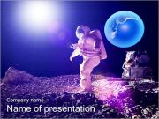 Man on Moon PowerPoint Templates