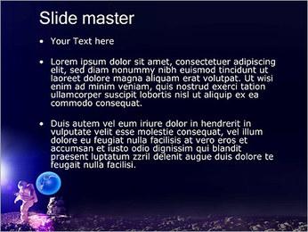 Man on Moon PowerPoint Template - Slide 2