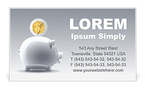 Piggy Bank Business Card Templates