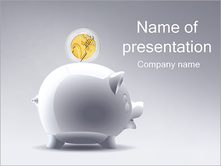 piggy bank powerpoint template & backgrounds id 0000002387, Powerpoint templates