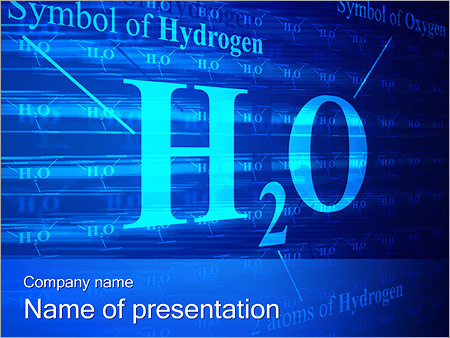 Symbole de l'hydrogène Modèles des présentations  PowerPoint