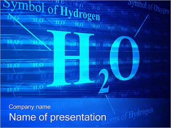 Simbolo di idrogeno I pattern delle presentazioni del PowerPoint