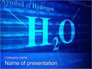 Symbol der Wasserstoff- PowerPoint-Vorlagen