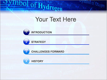 Symbole de l'hydrogène Modèles des présentations  PowerPoint - Diapositives 3