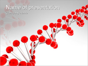 Red-DNA PowerPoint presentationsmallar