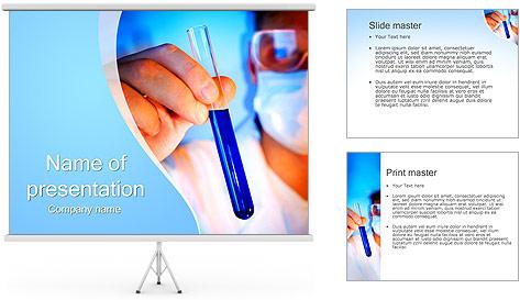 Adjoint avec le tube à essai Modèles des présentations  PowerPoint