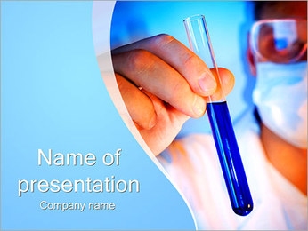 Assistant with Test Tube PowerPoint Template