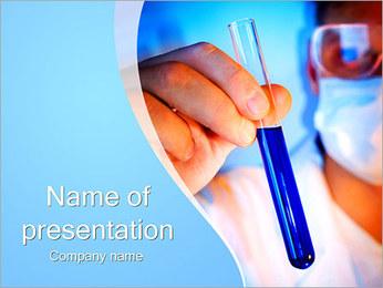 Adjoint avec le tube à essai Modèles des présentations  PowerPoint - Diapositives 1
