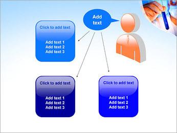 Adjoint avec le tube à essai Modèles des présentations  PowerPoint - Diapositives 12