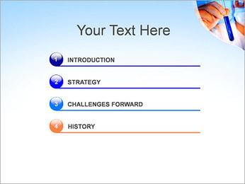 Adjoint avec le tube à essai Modèles des présentations  PowerPoint - Diapositives 3