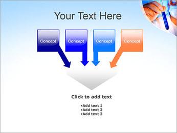 Adjoint avec le tube à essai Modèles des présentations  PowerPoint - Diapositives 8