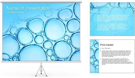 Bulles de l'eau Modèles des présentations  PowerPoint