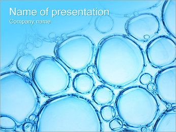 Water Bubbles PowerPoint Template