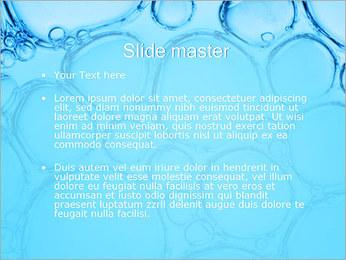 Bulles de l'eau Modèles des présentations  PowerPoint - Diapositives 2