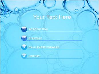 Bulles de l'eau Modèles des présentations  PowerPoint - Diapositives 3